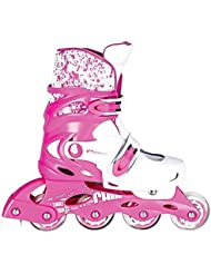 SPOKEY® SPLASH Pattini in Linea | Bambini | Donna | Inline Skates | Taglia regolabile | 31-34, 35-38, Spokey Größen:35-38, Colori:Rosa-Weiss