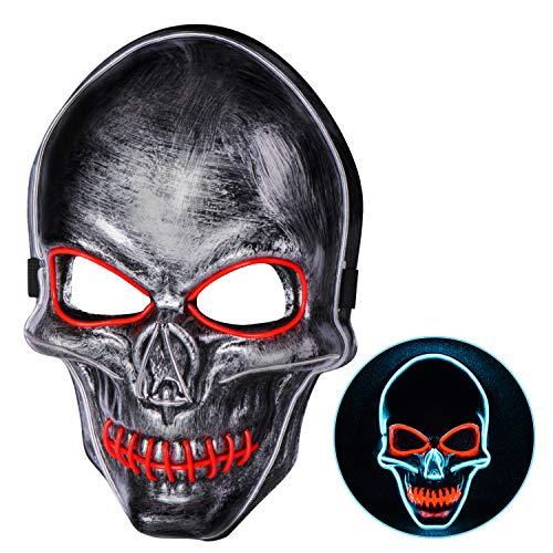 Halloween Kostüm Party Kinder - Joyjoz Halloween LED Maske The Purge