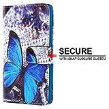 ( blau ) Buterfly gedruckte Design für Yezz Monaco 4.7