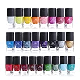 Generico 6ml nail art stamping Polish Candy color manicure piastra Printing lacca vernice 25colori set