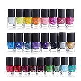 Born Pretty - Juego de esmaltes de uñas en 25 colores con tonalidades caramelos distintos para manicura estampada. 6 ml