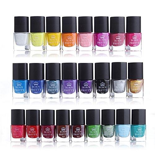 Born Pretty - Juego esmaltes uñas 25 colores tonalidades