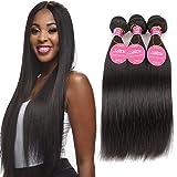 Fasci di capelli brasiliani lisci Bundle di capelli vergini brasiliani Offerte estensioni del tessuto dei capelli umani al 100%, 22 24 26inches