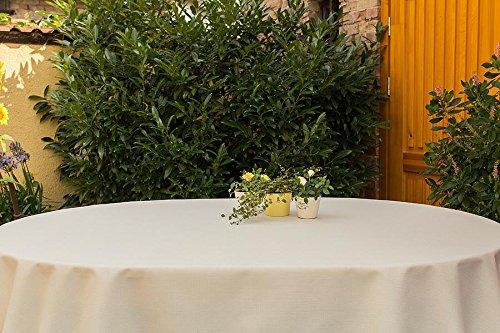 Hochwertige Tischdecken Farbe & Größe wählbar , Maße: 160x220 cm eckig sand-beige Rustikal aus...