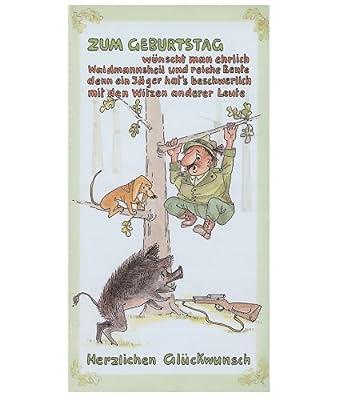 Jagd Geburtstagskarte - Glückwunschkarte Mod. 3