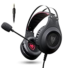 Demana Gaming Headphones, NUBWO 3.5mm Surround Stereo Wired Gaming Headset with Microphone and Volume Control for PC/Ps4/Xbox one/Phone/Laptop (Black 3.5mm Plug)