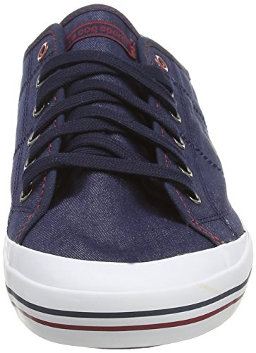 Le Coq Sportif Grandville Denim, Unisex-Erwachsene Sneakers Blau (Dress Blue)