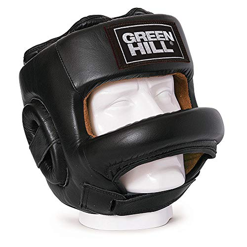 GREEN HILL CASCO DE BOXEO FORT PROTECCIÓN BARRA FRONTAL BOXING NEGRO L