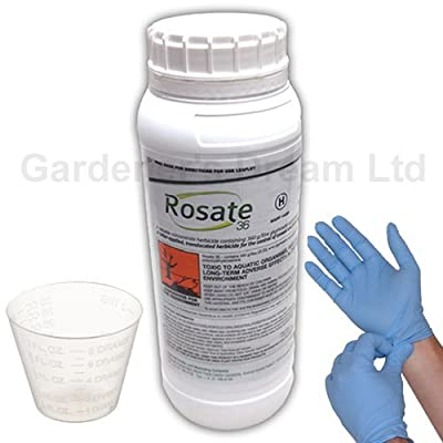 1 Litre Rosate 360 TF Very Strong Glyphosate Weedkiller plus Gloves and Cup