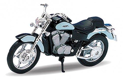 Honda Shadow Motorrad (DieCast Modell Motorrad HONDA SHADOW VT1100C schwarz metall Welly Motorradmodell 1:18)