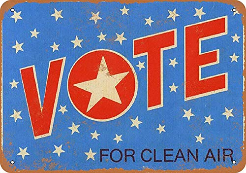 Mr.sign Vote Clean Air Blechschilder Vintage Metall Poster Warnschild Retro Schilder Blech Blechschild Wanddekoration Malerei Bar Cafe Restaurant Garten Park