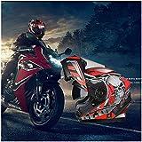 GSDZN - Motorradhelm Motorradhelme Integralhelme Klapphelme Jethelme Externe Transparente Linse Und Eingebaute Sonnenblende,J(New)-XXL