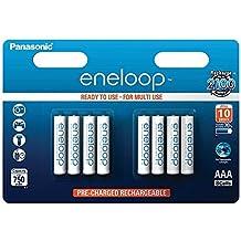 AAA Batterie Pile Panasonic eneloop BK-4MCCE 800mAh, 8 pezzi