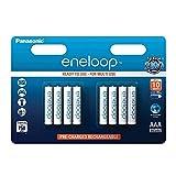 Panasonic eneloop, Ready-to-Use Ni-MH Akku, AAA Micro, 8er Pack, min. 750 mAh, 2100 Ladezyklen, geringe Selbstentladung Bild