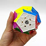 *X-MAN GALAXY Megaminx* STICKERLESS SCULPTED - QiYi 3x12 Professionnel & Compétition Cube de Vitesse Speed Cube Magic Cube Puzzle 3D - Pièces Sculptées Sans Autocollants