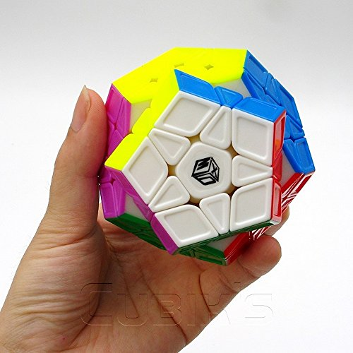 Preisvergleich Produktbild *X-MAN GALAXY Megaminx* STICKERLESS SCULPTED - QiYi 3x12 Professional & Competition Speed Cube Rubik's cube Brain Game 3D Puzzle