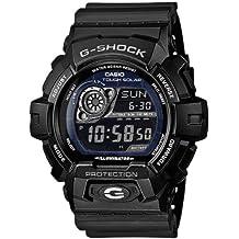 Casio G-SHOCK - Reloj digital de caballero de cuarzo con correa de resina negra (alarma, cronómetro, luz, solar) - sumergible a 200 metros