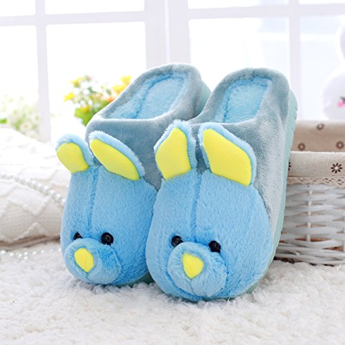 DogHaccd pantofole,Home cotone pantofole inverno femmina carino coppia cartoon anti-slip maschile calda coperta spessa scarpe eleganti Il blu2