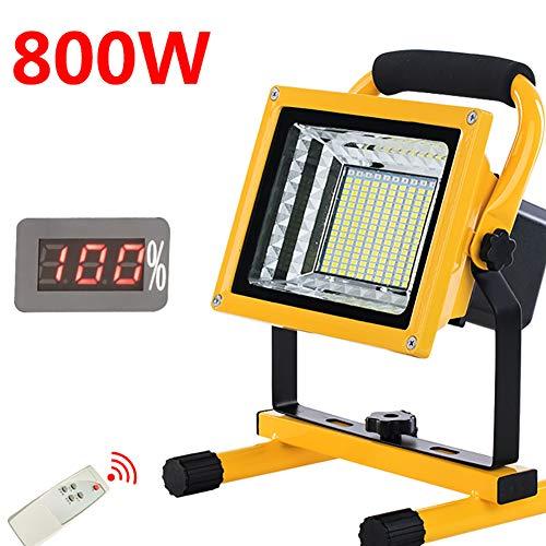 Foco LED Recargable 800W 9000LM portátiles Mano lámpara
