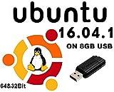 Linux Ubuntu 16.04.01 Nouvelle Dernière Version sur Clé USB 8 Go: 32bit et 64 Bit