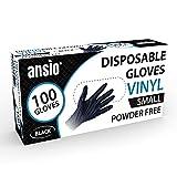 Vinyl Handschuhe, Einweghandschuhe 100 Stück 1 Box, Einmalhandschuhe S, Untersuchungshandschuhe, Einweghandschuhe, puderfrei, ohne Latex, unsteril, latexfrei, Einmalhandschuhe, klein