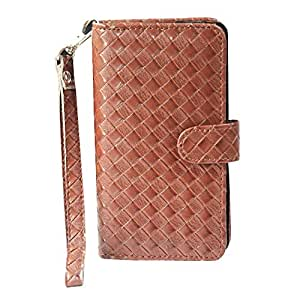 J Cover A9 I Elegant Series Leather Carry Case Cover Pouch Wallet Case For Spice Stellar Mi-508 Brown