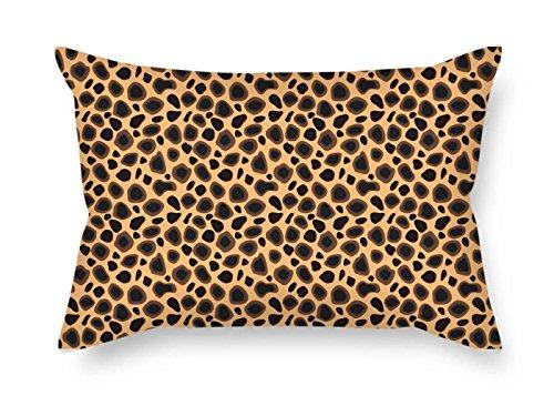 slimmingpiggy 45,7x 66cm/45von 65cm Leopard Kissen jeder Seite ist Fit für Boden Study Room Pub Innen Gril Friend Mädchen (Seiten Leopard)