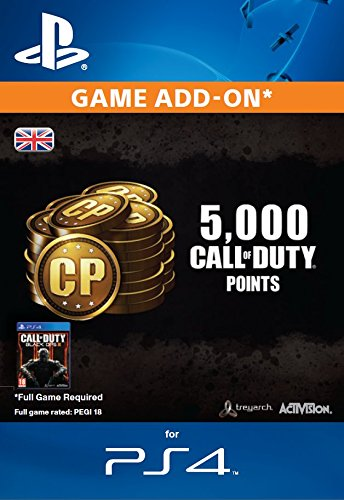 4,000 (+1,000 Bonus) Call of Duty Points [PS4 PSN Code – UK account]