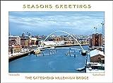 Scenic Fotos Gateshead Millennium Bridge Weihnachten Karte