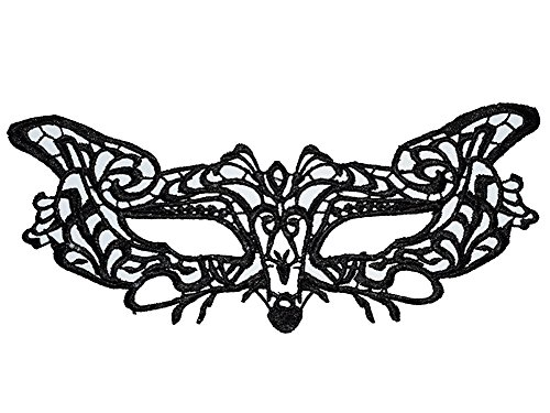 ShallGood Máscara De Encaje Ahuecar Mascarada Veneciano Antifaz De Mujeres Para Halloween Veneciano Carnaval Fiesta De Baile Negro Atractivo Style 16 One Size