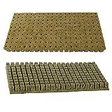 5starservices141PCS Rockwool Kit Coltivazione idroponica Media Starter Cubes Plugs Rockwool/Stonewool Starter cubi per talee, clonazione, pianta moltiplicazione e Semi di partenza (S)