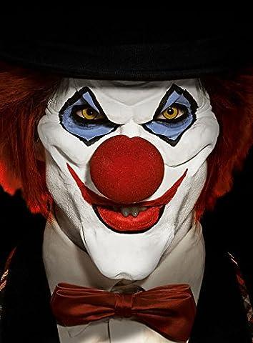Horror Clown Deluxe Set Deluxe Make Up Halbmasken Set Halloween Karneval Party (Kostüm Maskenbildner)