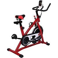 Preisvergleich für OUTAD Profi Indoor Cycle Fahrrad Heimtrainer Fahrrad Trimmrad Indoor Fitness Bike mit LCD Display, Speedbike flüsterleisem Riemenantrieb, Fahrrad Ergometer bis 100KG