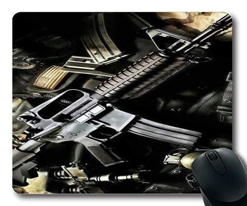 Mauspad, Pistolenspieler, alle Waffen, Mauspad mit genähten Kanten - 013 Luft