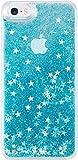 Bling Bling Coque Pailletée pour Apple iPhone 5/5s/5C/SE, Bleu Neige