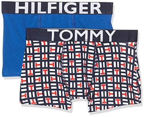 Tommy Hilfiger 2p Trunk Logoblock Bañador, Multicolor Multi 065, Talla única Talla del Fabricante...