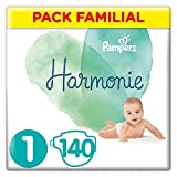 Pampers - Harmonie - Couches Hypoallergénique - Pack Familial
