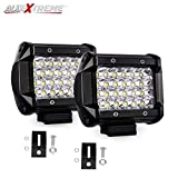 #9: AllExtreme 4 inch CREE LED 72W Fog Light Cube White LED Pod Work Light Waterproof Off Road Driving Spotlight Flood Light for Bike Cars Off Road Truck 4WD SUV ATV Motorcycle (Pack of 2)