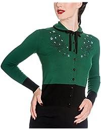 Cardigan Rockability fifties veste Hell Bunny produit de marque vert noir