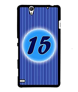 Fuson 2D Printed Numerology Designer back case cover for Sony Xperia C4 - D4233