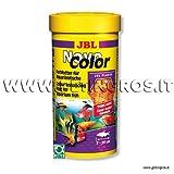 JBL Novo COLOR mangime in scaglie per pesci con livrea colorata confezione da 250 ml/40 g