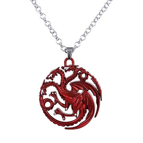 one inspiriert Targaryen Anhänger Kostüm Halskette-Rot (nl005382-1) (Minimal-halloween-kostüme)