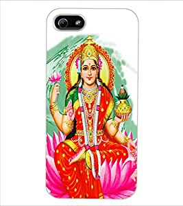 ColourCraft Maa Laxmi Design Back Case Cover for APPLE IPHONE 5S