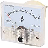 Puntatore 0-20A 85C1-Amperometro analogico da pannello e Tester per la corrente 56 x 64 mm