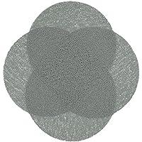 """ZOLLNER® Set de 4 manteles individuales redondos / salvamanteles redondos / protector para mesa, 38 cm, gris, de PVC, antideslizantes, en otros colores, del especialista para hostelería, serie """"Sol"""""""