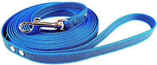 Gummierte Schleppleine blau - 5m lang - verschiedene Breiten - mit Handschlaufe