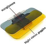Función Gafas de Visión 2 en 1 Anti-Reflejo Nocturna Coche Transparente Antideslumbrante Cristal Coche para el día y la Noche de Conducción