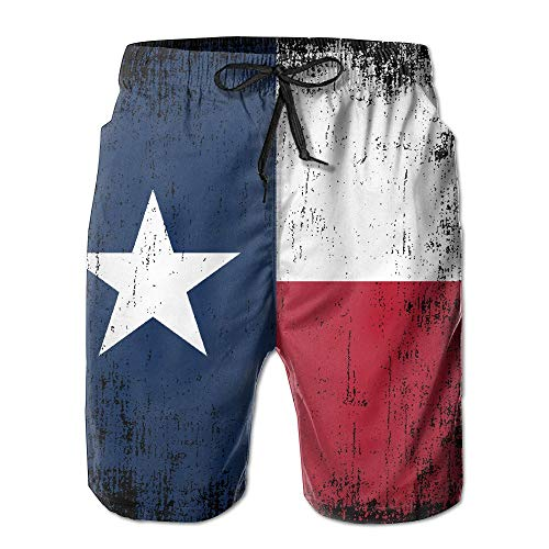 7 Pocket Cargo Pant (MrRui Texas State Flag Herren Surf Badeshorts Surf Shorts Cargo Pants Whith Pocket Gr. S 7-9, weiß)