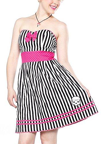 Sourpuss robe robe de soirée sPDR180 de mort Blanc - Blanc