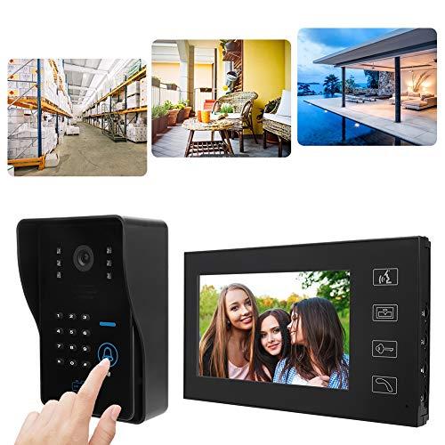 Sistema de intercomunicador doméstico de Seguridad 7in Video Door Phone Control de...
